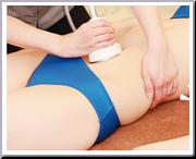 凝り固まった脂肪にアタック キャビテーション 腹部〜背中まわり